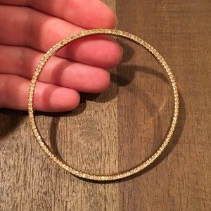Kate Spade Gold Bangle with Rhinestones